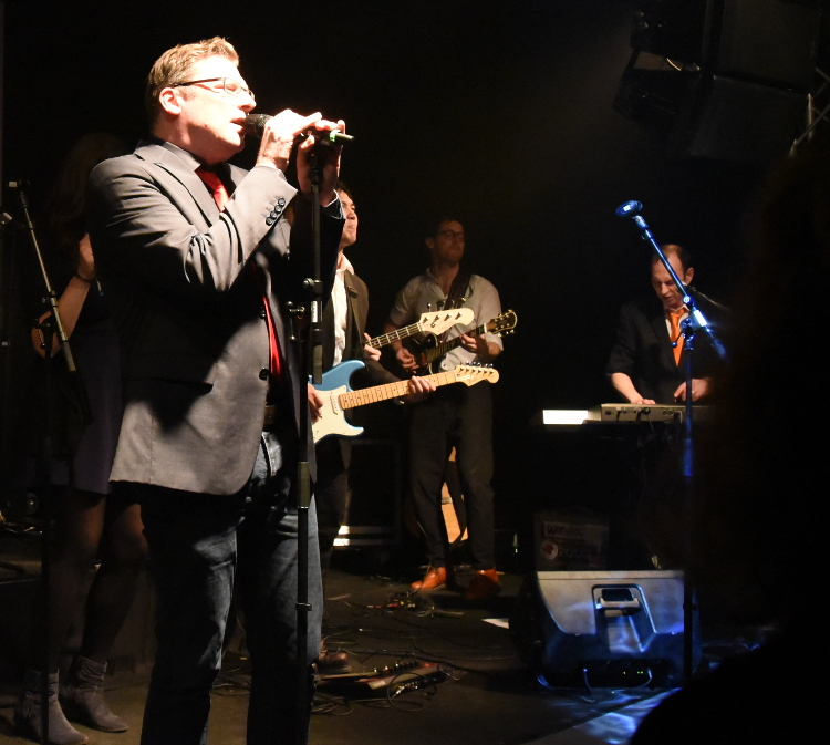 Holger and the band onstage at Haus Ungarn